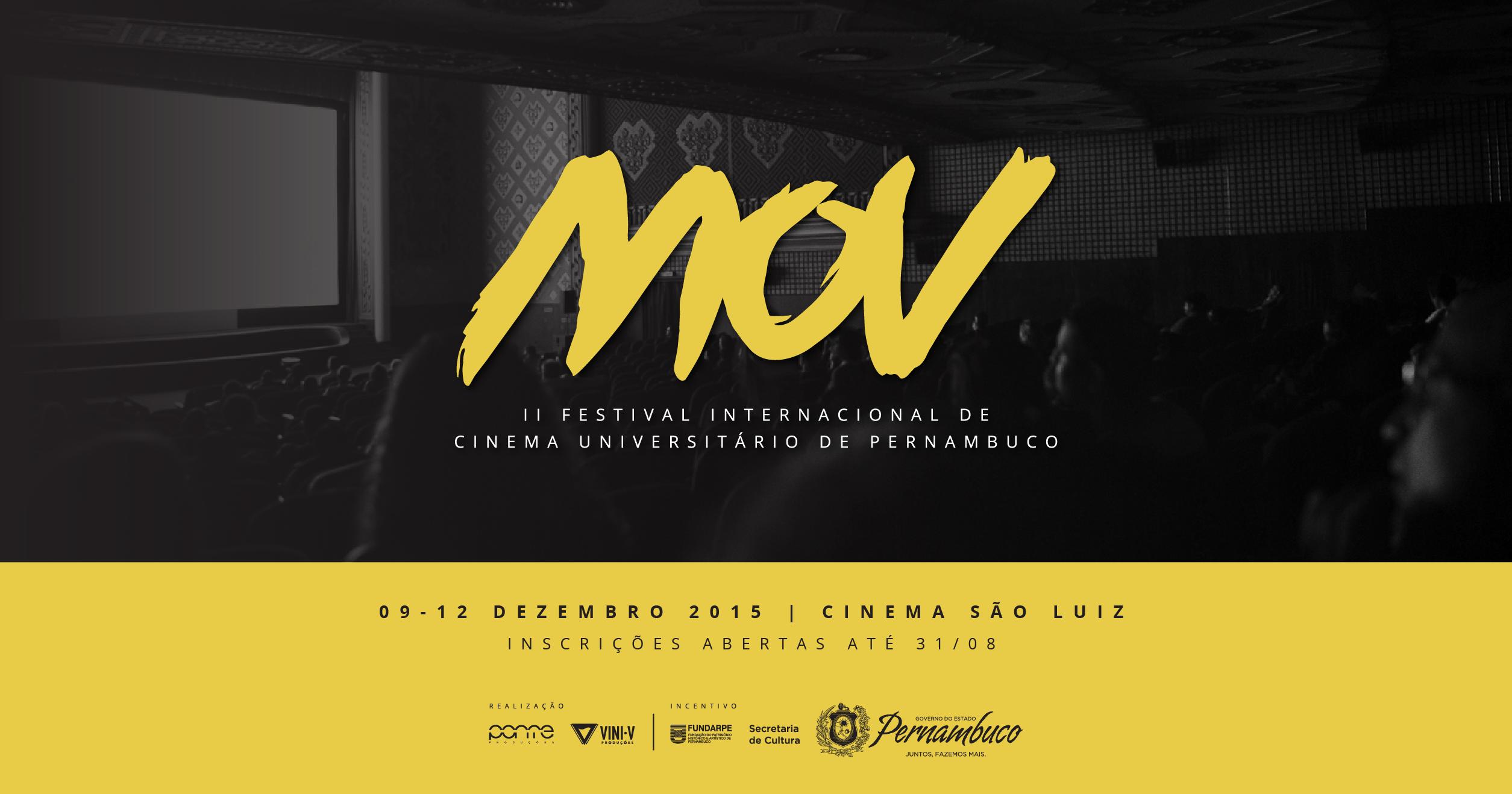Inscrições para MOV II Festival Internacional de Cinema Universitário de Pernambuco vão até o dia 31 de agosto