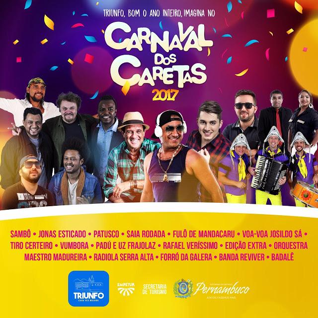 Carnaval do Interior de Pernambuco: Programação completa de Triunfo e Bezerros! Dos Caretas aos Papangus!