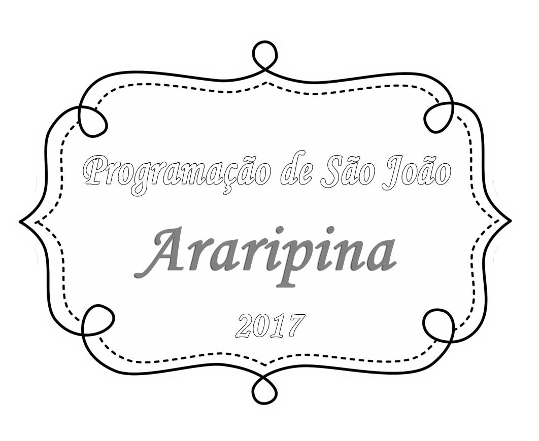 Programação de São João de Araripina 2017