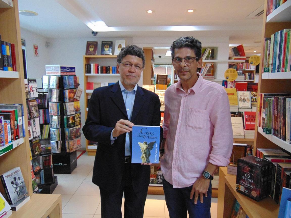 Lançamento do novo livro de Roberto Numeriano, O Céu de Santo Amaro