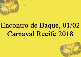 E tem Encontro de Baque para iniciar o mês de fevereiro! Confira a programação para o dia 1º no Pátio de São Pedro.