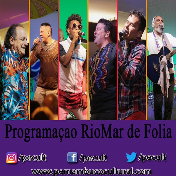 Programação do RioMar de Folia 2018 (11 e 12 de janeiro)