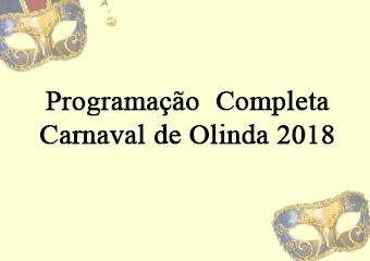 Programação Completa – Carnaval de Olinda 2018
