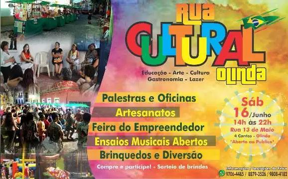 Amanhã, 16/06: Cultura e gastronomia movimentam o Sítio Histórico de Olinda.