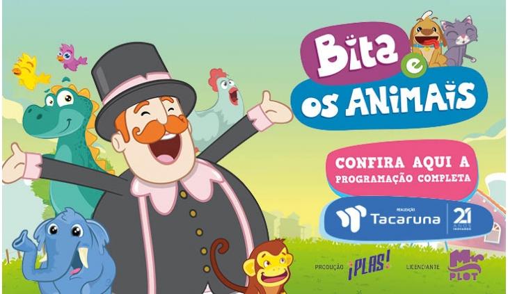 """""""Bita e os animais"""" para animar a criançada no mês dedicado à elas no Shopping Tacaruna."""