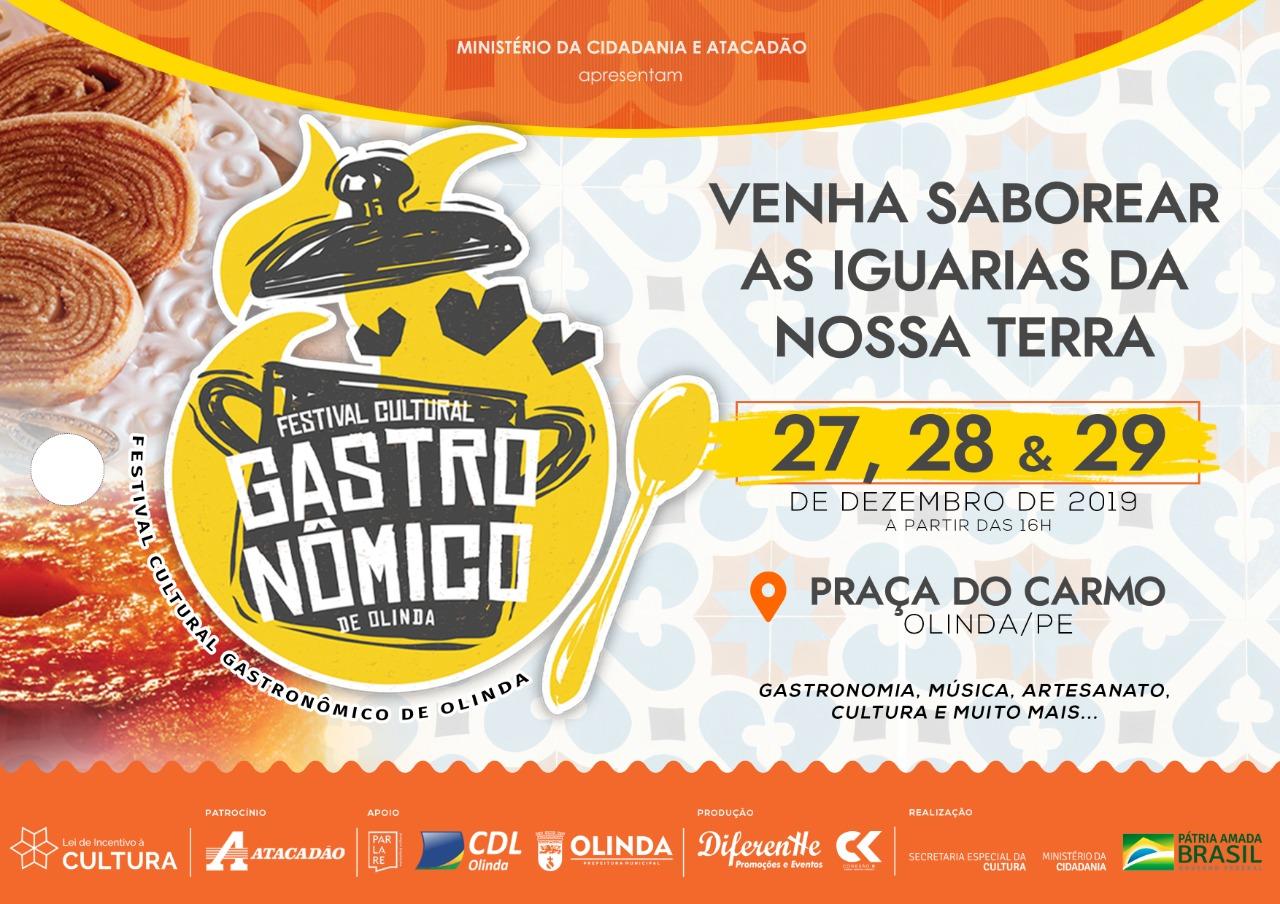 Festival Cultural Gastronômico de Olinda presta homenagem à culinária pernambucana  Evento acontece de 27 a 29 de dezembro.