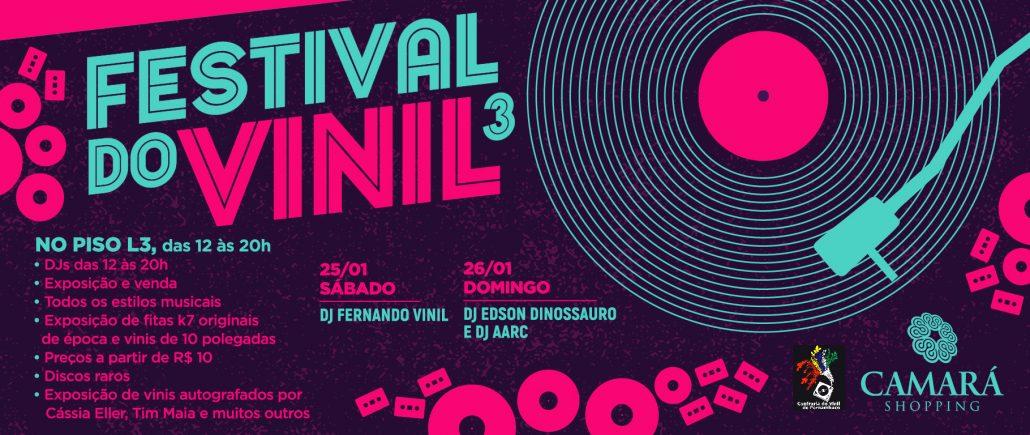 III Festival do Vinil dias 25 e 26 de janeiro no Camará Shopping, em Camaragibe.