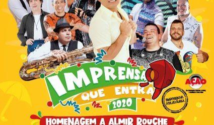 """12° edição do """"Baile Imprensa Que Entra"""" acontece no dia 08 de fevereiro de 2020"""