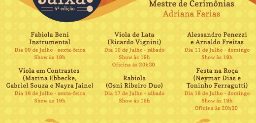 Som na faixa encerra programação com shows de Neymar Dias, Toninho Ferragutti, Osni Ribeiro, Mariana Ebbecke e muito mais.
