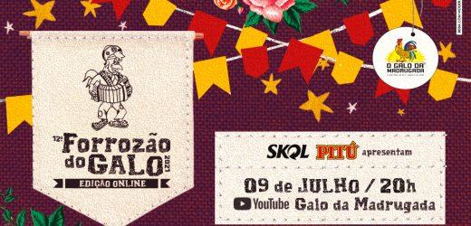 09/07: Galo da Madrugada leva Forrozão para as casas dos foliões nesta sexta e lança campanha para ajudar artistas e cooperativa de catadores de latinhas